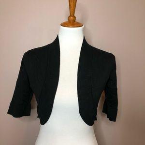 Xhilaration black open shrug cardigan
